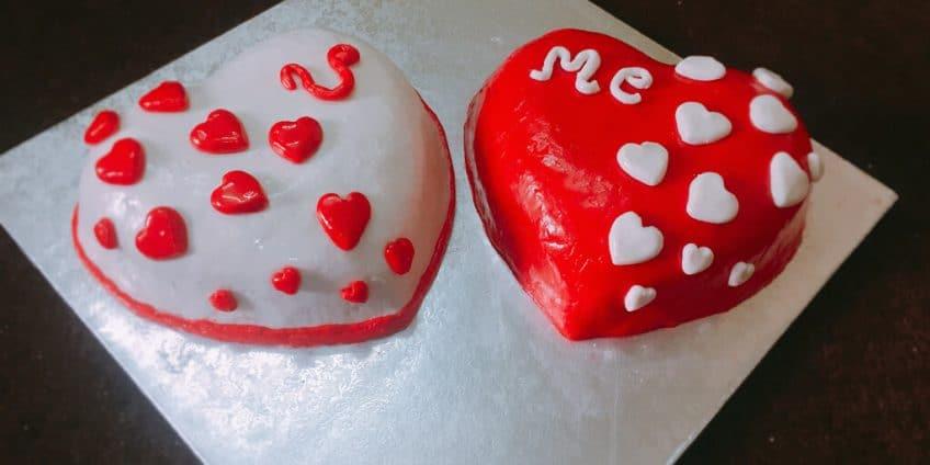 Dual Heart Cake