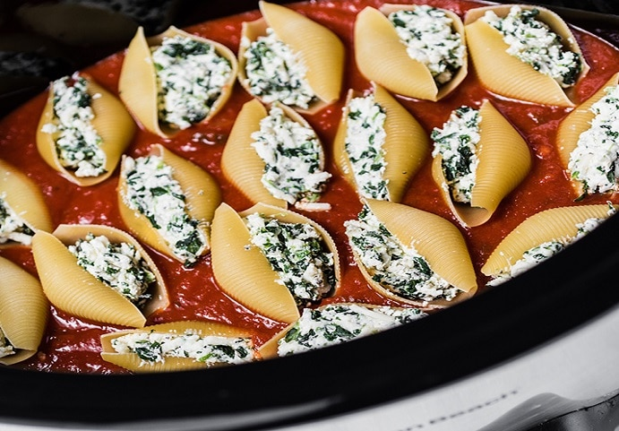 Slow Cooker Stuffed Shells