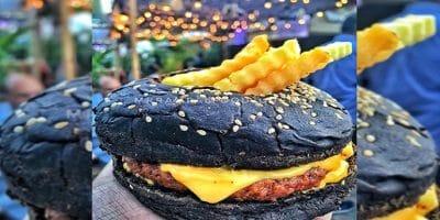 black lamb burger