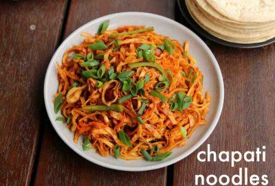 Leftover roti noodles