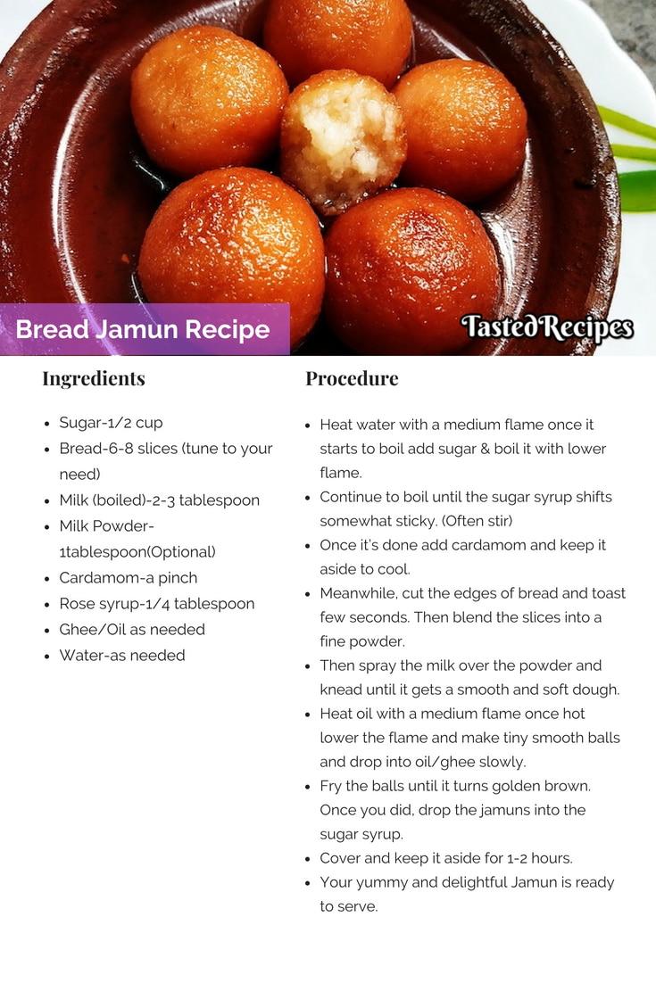 bread jamun recipe