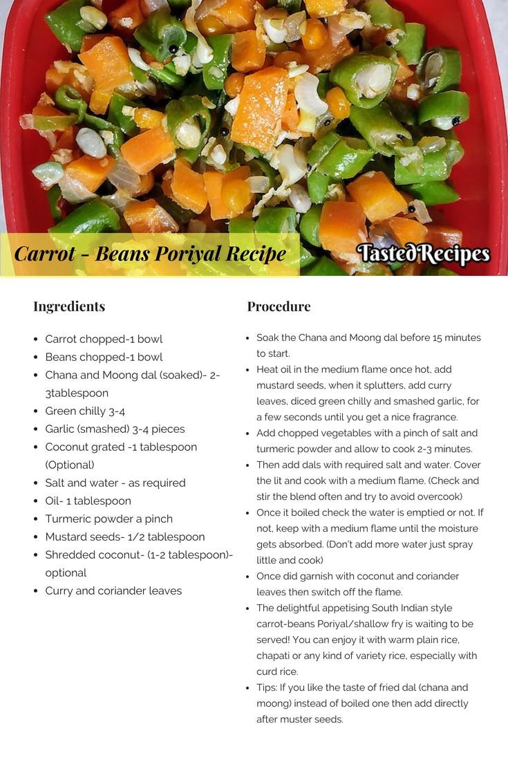 carrot-beans poriyal recipe