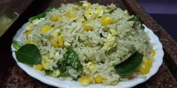 Easy Egg Corn Fried Rice Recipe