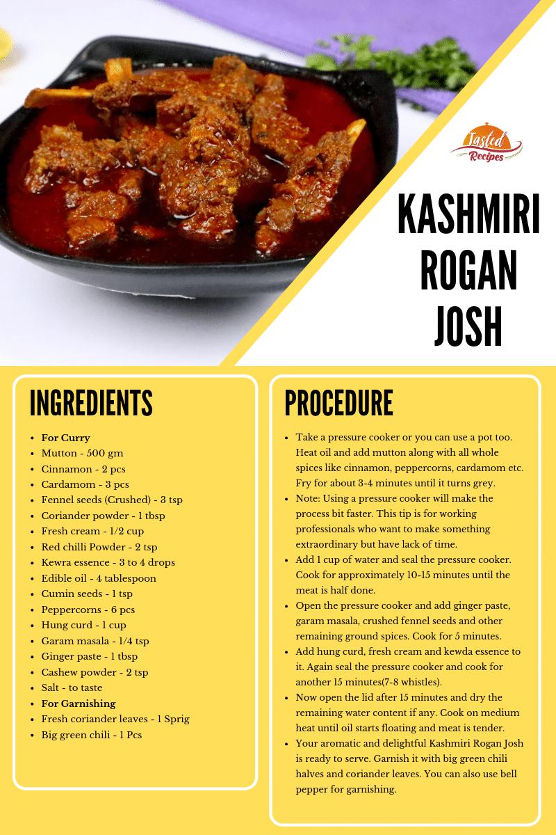 kashmiri rogan josh recipe card