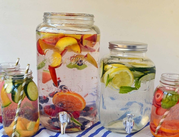 spa fruit infused detox water