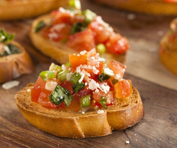 whole grain bread Bruschetta