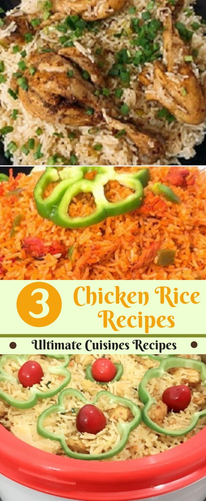3 chicken rice recipes