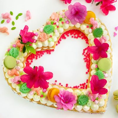 heart cream tart