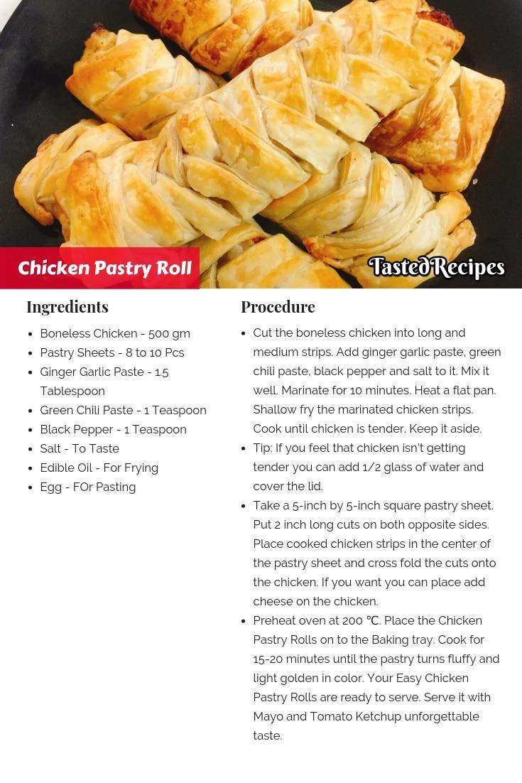 Chicken Pastry Roll