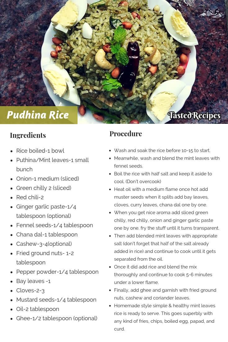 pudhina rice