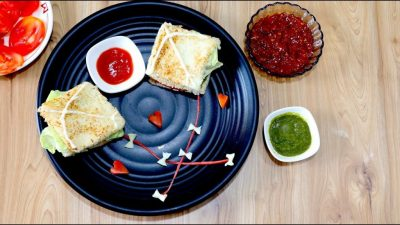 No Cook Kite Sandwich Recipe - Uttarayan Special Recipe