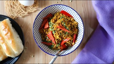 Spicy Anda Bhurji - Indian Egg Scramble