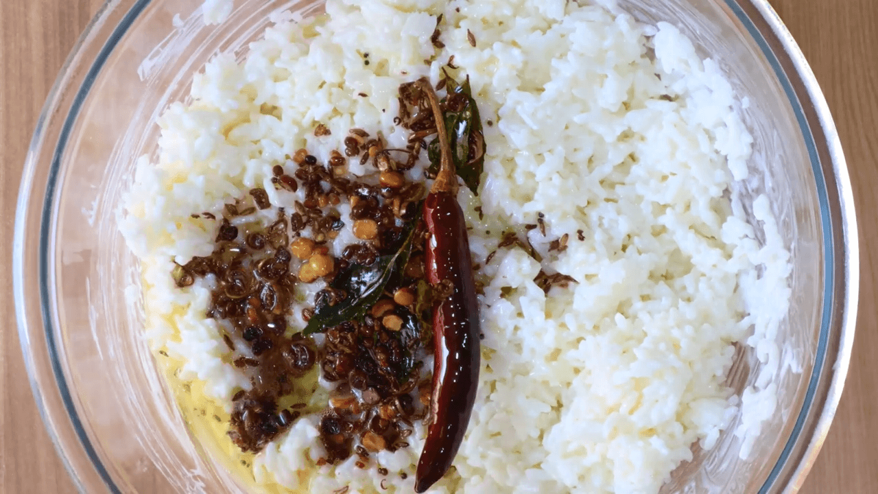South Indian Curd Rice step-3