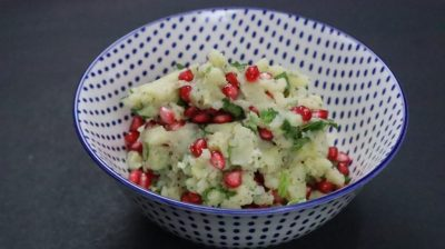 Mashed Potato Pomegranate Salad