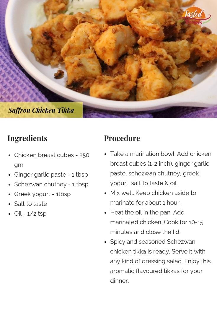Schezwan chicken tikka