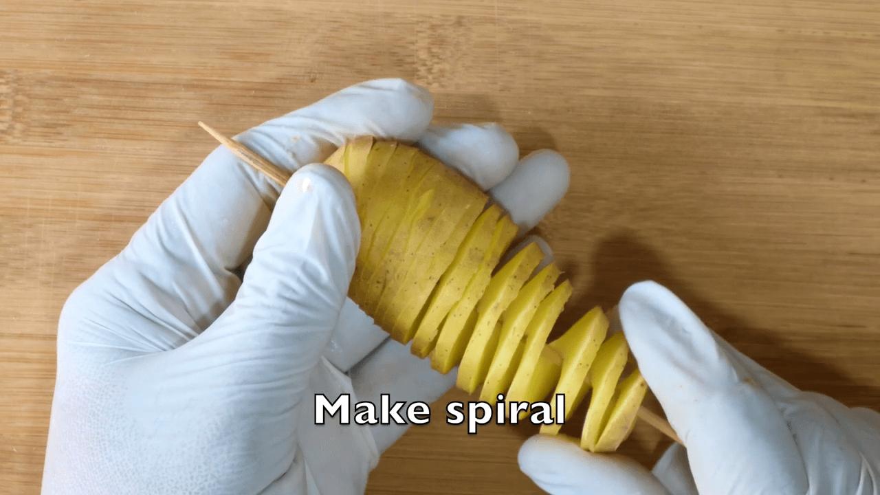 Potato Spiral step-1