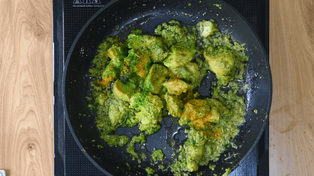 hara bhara chicken tikka step-3