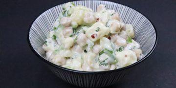 potato chickpea salad