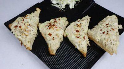 chicken mayonnaise open toast