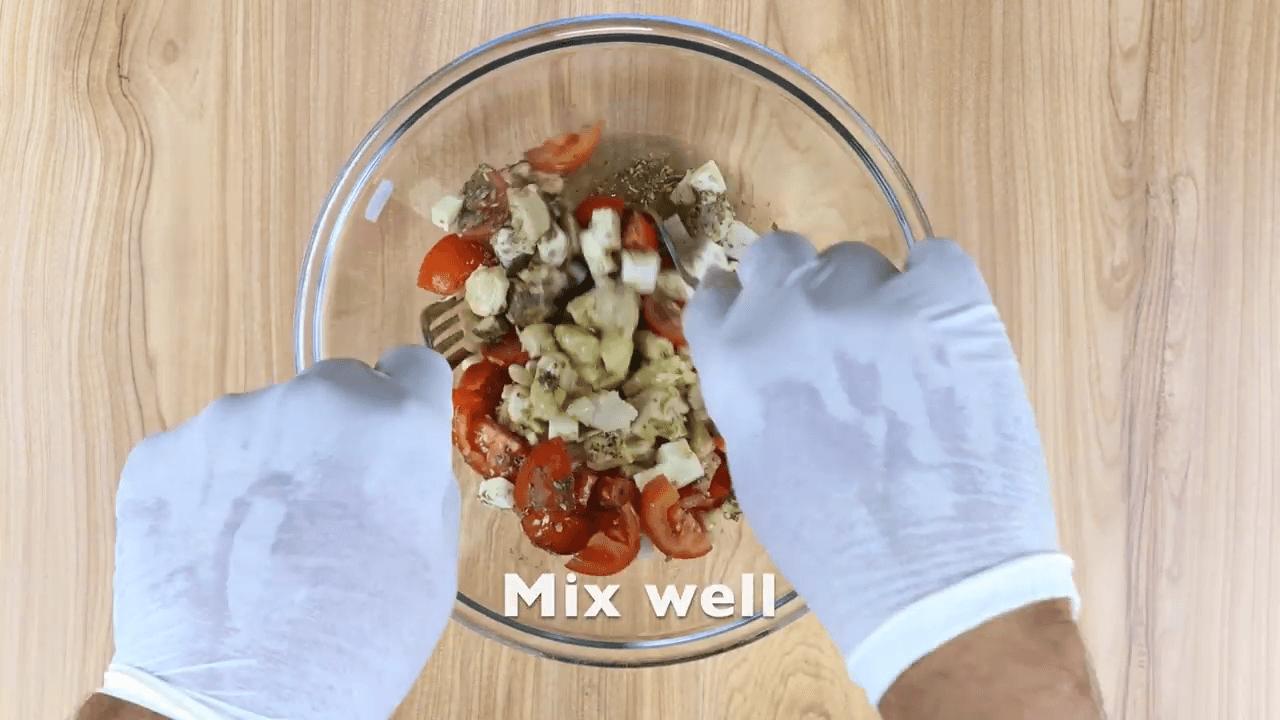 Chicken Greek Open Toast step-1