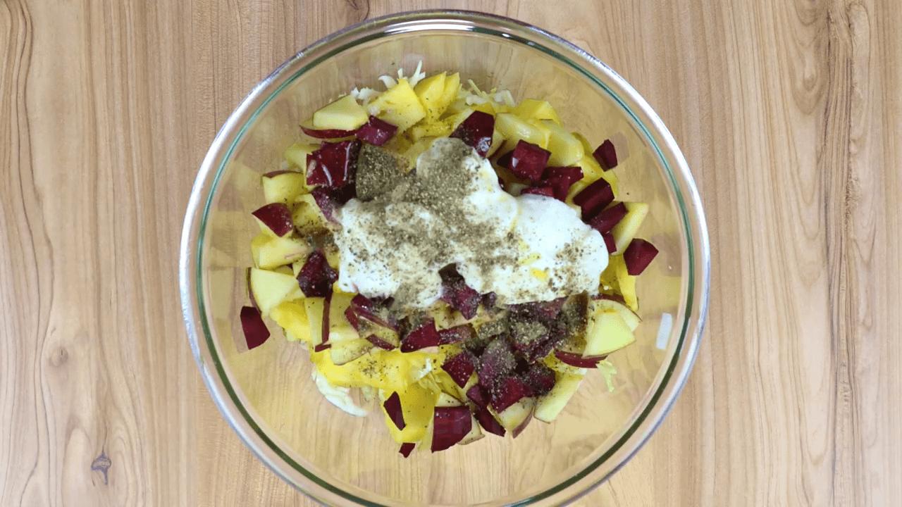 Cabbage Pineapple Salad step-1