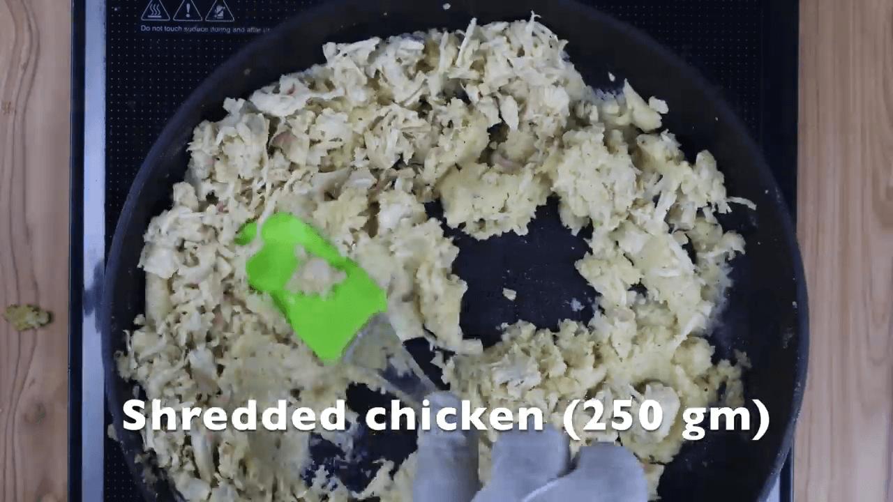 Chicken Alfredo Open Toast step-2