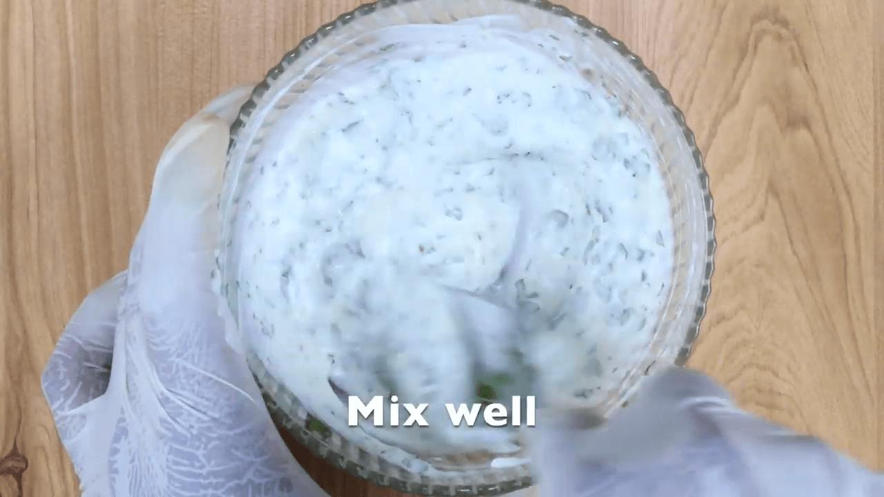 Chicken Greek Open Toast step-2