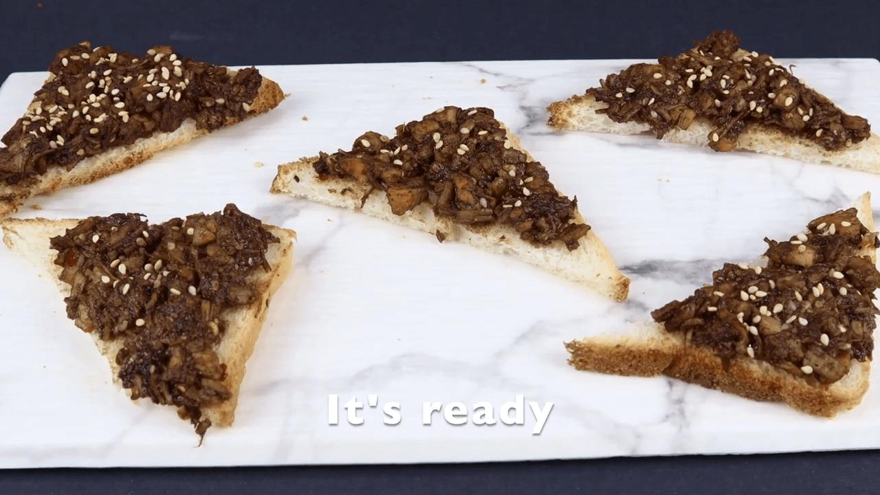 Chicken Teriyaki Open Toast step-3