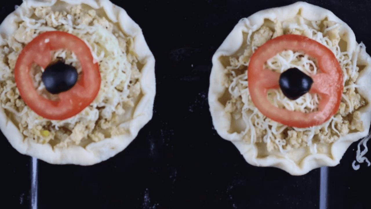 Mini Chicken Puff Pizza step-5