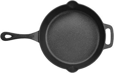 amazon basics pre seasoned cast iron skillet pan