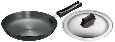hawkins futura Hard anodised frying pan with steel lid