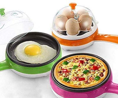 wazdorf multifunctiional electric egg boiling steamer egg frying pan