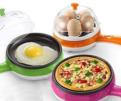 wazdorf multifunctiional electric egg boiling steamer egg frying pan