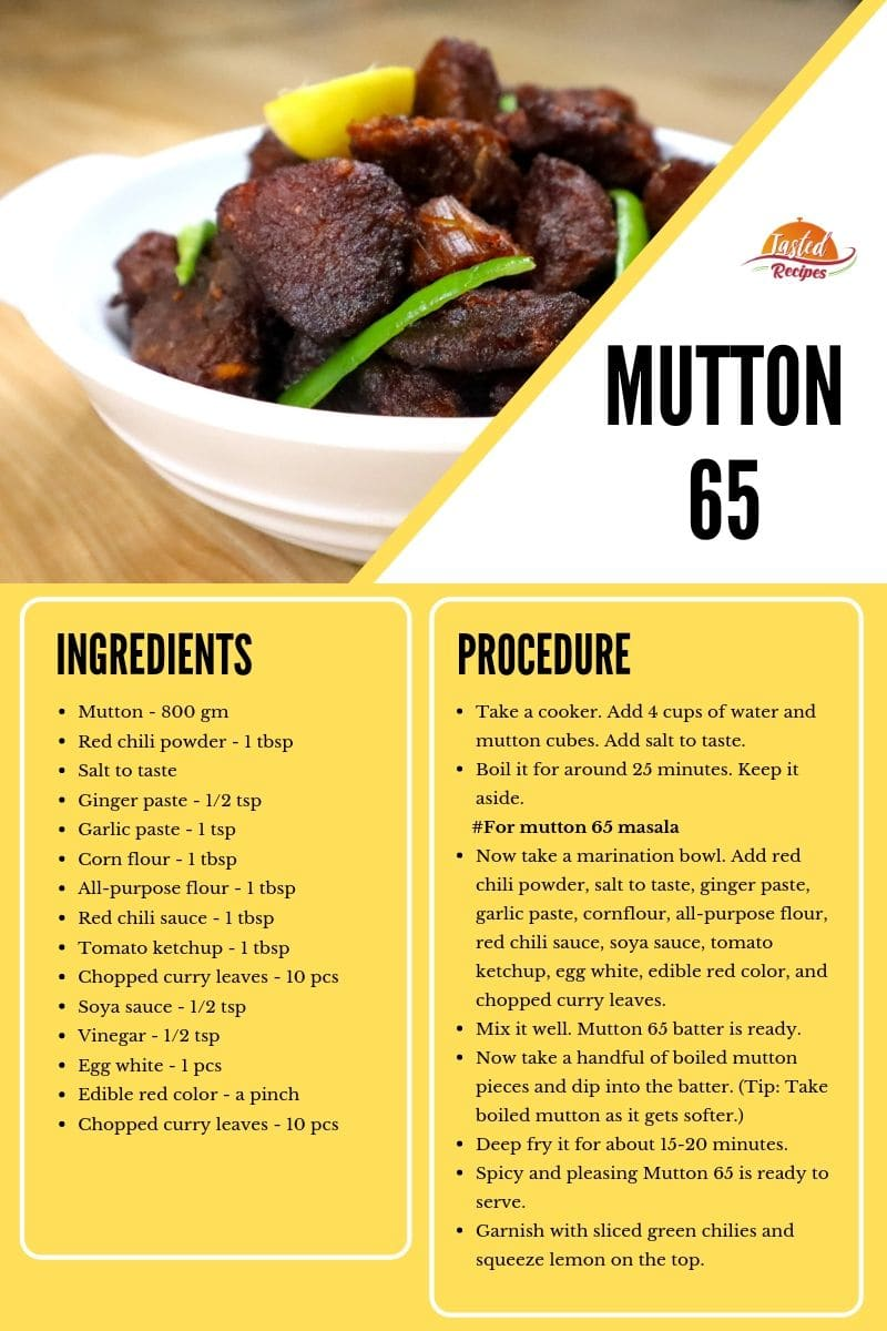 mutton 65 recipe card