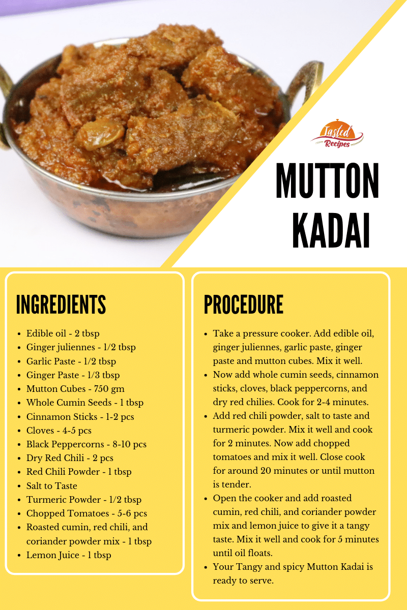 mutton kadai recipe card
