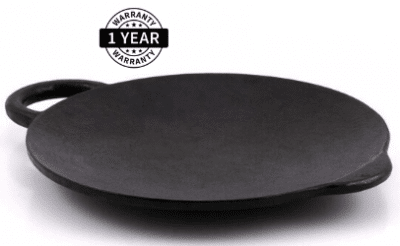 Bhagya Cast Iron Cookware Pre-Seasoned Concave:Curved:Roti:Dosa Tawa - 9 inches
