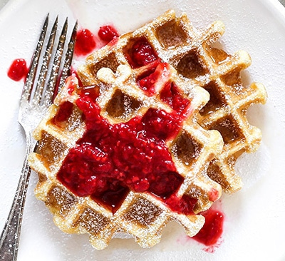 buttermilk-waffles-with-rose-raspberry-sauce