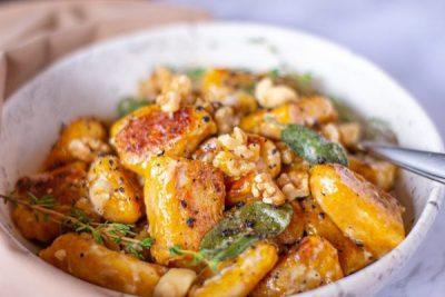 pumpkin-gnocchi-with-walnuts-and-creamy-sage-sauce