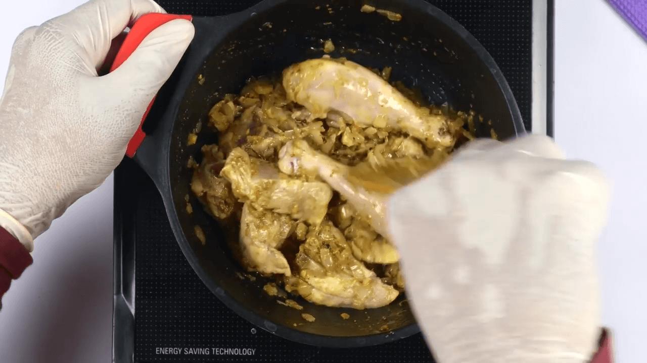 Methi Chicken step-3