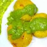 stuffed-kapuria-with-green-cheese-sauce
