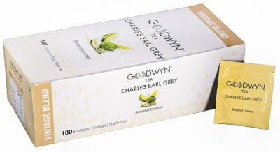 Goodwyn Earl Grey Tea, A Bergamot and Aromatic Black Tea, 100 Tea Bags