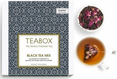 Teabox Black Teas Sampler Gift Box, 16 Tea Bags, 4 Flavors (BTMTB)