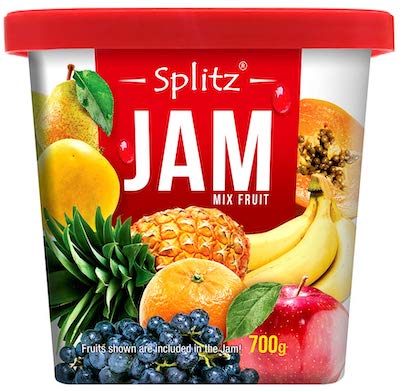 splitz mix fruit jam