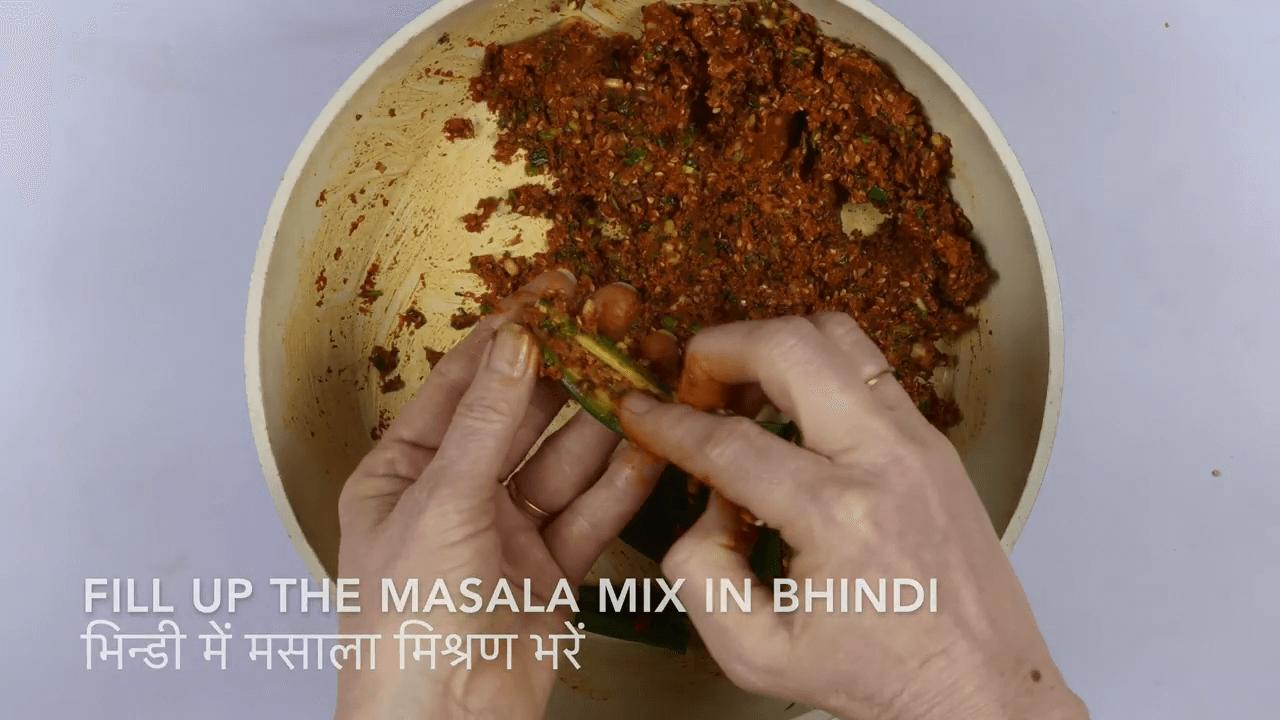 Kadhi Bhindi step-2