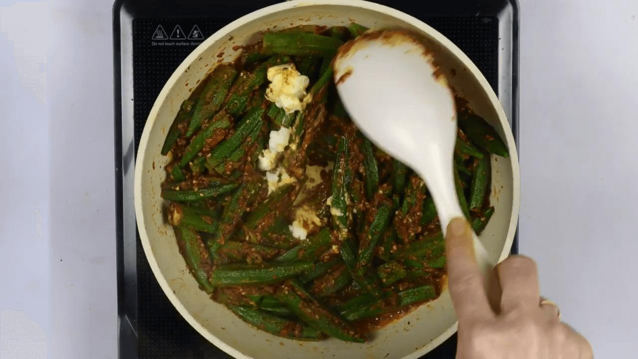 Kadhi Bhindi step-4
