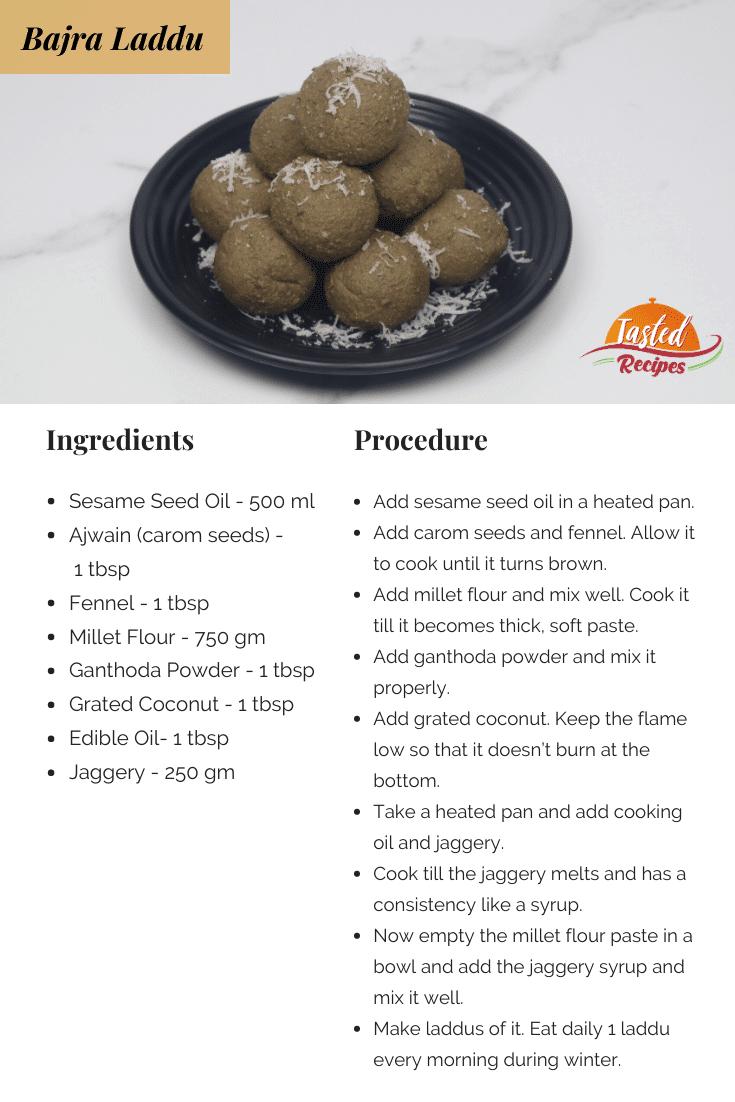 Bajra Laddu Recipe Card