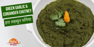 Green Garlic Coriander Chutney