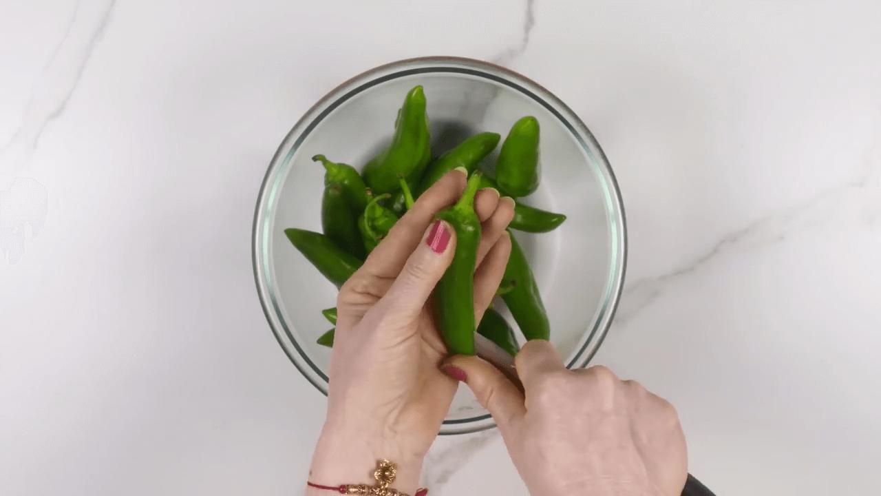 Stuffed Green Chili step-1