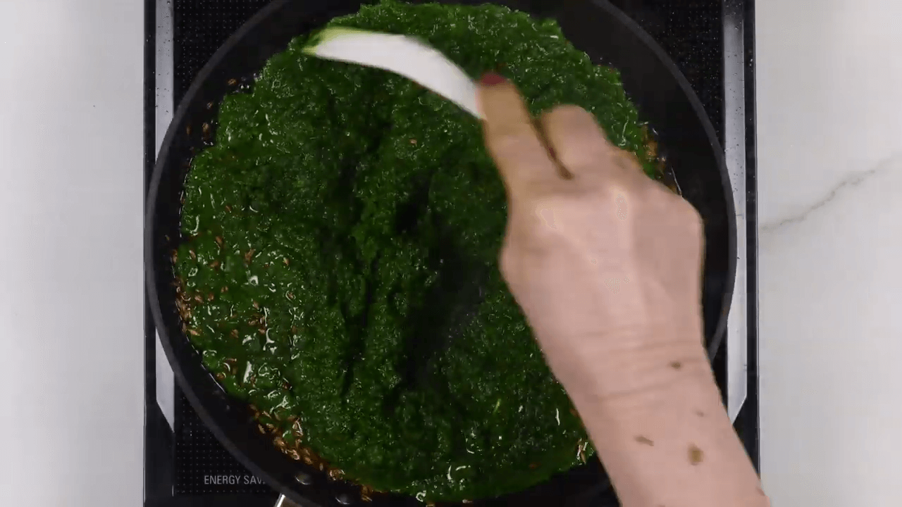 Green Garlic and Coriander Chutney step-3