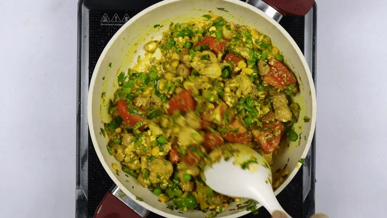 Vegetable Pulao step-4